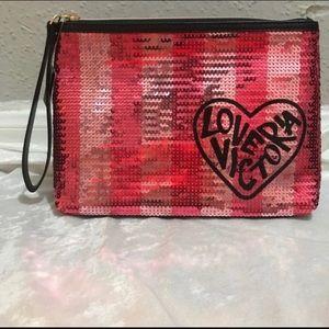 Victoria Secret makeup bag, NWT, 9.5 x 3 x 6.5